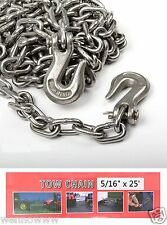 "5/16"" X 25ft Tow Chain Automotive Truck Towing Log Chain"