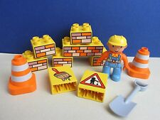 DUPLO lego BOB THE BUILDER FIGURE SET bricks TOOLS lot set 313