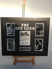 PROFESSIONALLY FRAMED, SIGNED BEEGEES PHOTO COLLAGE. WITH PLAQUE. UNIQUE PIECE