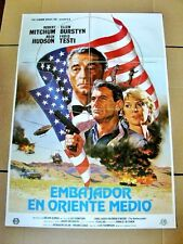 THE AMBASSADOR Original Movie Poster ROCK HUDSON ROBERT MITCHUM ELLEN BURSTYN
