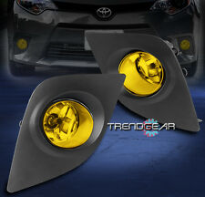 2014-2016 TOYOTA COROLLA CE ECO L LE BUMPER YELLOW FOG LIGHT LAMP W/COVER+SWITCH