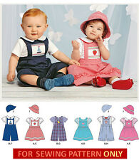 SEWING PATTERN! MAKE BABY JUMPER~ROMPER~SHIRT~HAT! BOY~GIRL~PRINCE GEORGE OUTFIT