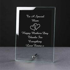 Personalised Engraved Glass plaque mothers day gifts, some one special gifts