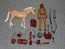 1960s Marx Johnny West BOTW Chief Cherokee & Palomino Pancho Lot & Accessories