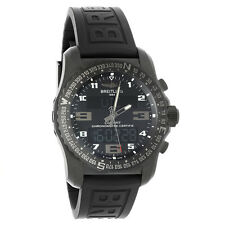 Breitling Cockpit B50 Night Mission Series Mens Black Strap Watch VB501022/BD41