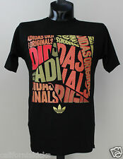 ADIDAS Originals Shatter Collage T-Shirt sz M Medium Black Red Gold Premium NEW