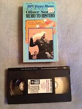 Oliver North: Memo to History - VHS Video Tape - Rare - Iran-Contra Hearings
