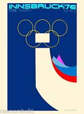 1976 Innsbruck Austria Tirol Olympic Games Travel Advertisement Poster