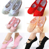 Child Adult Canvas Ballet Dance Shoes Slippers Pointe Dance Gymnastics TO