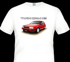 84' 86'  TOYOTA  AE 82  COROLLA  TWIN CAM 16  FX16  QUALITY  WHITE  T-SHIRT