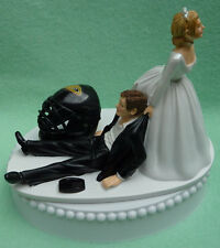 Wedding Cake Topper Anaheim Ducks Hockey Themed Sports Fan Bride Groom Humorous