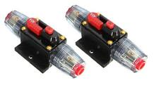 2pcs Car Stereo Inline Circuit Breaker Fuse 40AMP 40A DC 12V Audio CB40
