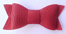 Leatherette Red, Navy, Black, Ivory, Pink Hair Bow Alligator Clip school