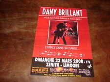 DANY BRILLANT - FLYER CONCERT LIMOGES MARS 2008 !!!!!!!