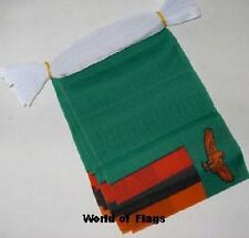 ZAMBIA BUNTING Zambian Flag 9m 30 Polyester Fabric Party Flags Africa African