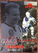 1998-99 MATS SUNDIN UD MVP POWER GAME INSERT #PG08 MAPLE LEAFS