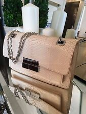 Michael Kors shoulder Bag with chain beige snake skin