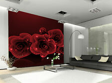 Stylish Red Rose Wall Mural Photo Wallpaper GIANT DECOR Paper Poster Free Paste