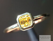 .23ct Fancy Intense Orange Yellow VS2 Asscher Cut Ring R5300 Diamonds by Lauren