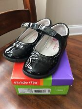 "Stride Rite ""Cora"" Little Girls Mary Jane Black Patent Leather 11.5 M"