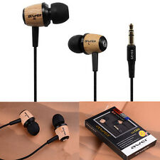 New AWEI Q9 Headset Super Bass Wooden Headphone In-Ear Earphone For Phone/PC/MP3