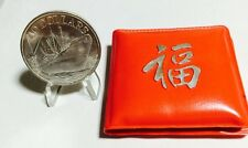 1965-1975 10th Anniversary Of Republic Of Singapore Silver Coin W/Red Pouch.