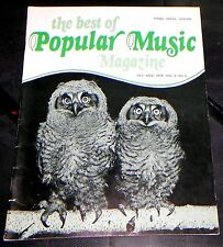The Best Of Popular Music Magazine Oct-Nov 1978 Vol 6 No. 6 Piano-Vocal-Guitar