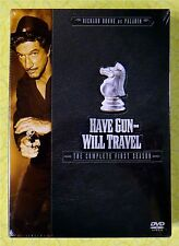 Have Gun Will Travel - Complete First Season 1 (DVD 6-Disc Set) Western Show New