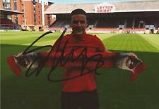 LEYTON ORIENT: SHANE LOWRY SIGNED 6x4 PORTRAIT PHOTO+COA