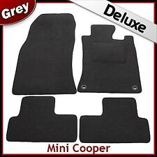 Mini Cooper / Cooper S  2001...2006 Tailored LUXURY 1300g Car Mats 2 Clip GREY