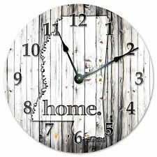 """MISSISSIPPI RUSTIC HOME STATE CLOCK - Large 10.5"""" Wall Clock - 2233"""