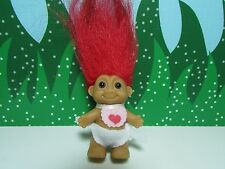 """VALENTINE STANDING BABY WITH BIB  - 2"""" Russ Troll Doll - NEW STORE STOCK"""