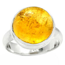 Citrine 925 Sterling Silver Ring Jewelry s.7 CTCR358