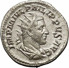 Philip I 'the Arab' Silver Ancient Coin Equality Fair trade Symmetry  i52131