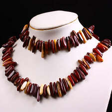 """Mookaite Gemstone Gem Chips Loose Link Beads For Choker Necklace 15.5""""L 1 Strand"""