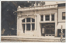 RPPC - Kilbourne, Wis. - New Bank Block - Electric Theater - early 1900s