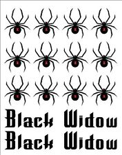 Bike Frame Black Widow & Name Vinyl Decal Set Custom Made to Order Personalized