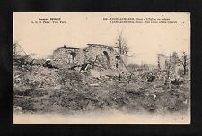 C1918 View of war damage to Cropeaumesnil caused during WW1