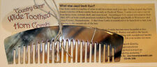 """Horn Comb - Wide Tooth Hair Comb - """"Country Gent"""""""