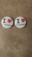 "Transylvania 1"" buttons lot of 2 - punk vampire heavy black metal mayhem pins"