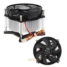 Aluminum 12V Intel CPU Cooler Fan Fit Ultra Quiet 3200 rpm LGA775 Heatsink 90mm
