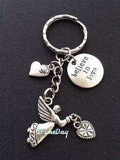 Guardian Angel Love Heart Keychain BELIEVE IN LOVE Coin Charms Christmas Gift
