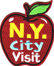 """N.Y. CITY VISIT"" -  Iron On Embroidered Patch - VACATION - SCHOOL - TRIP"