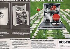 PUBLICITE ADVERTISING 045 1973 BOSCH lave-vaisselle (2 pages)