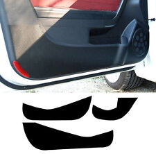 Anti Scratch 4D Carbon Door Protect Cover Black 3p For 11-15 Hyundai Veloster