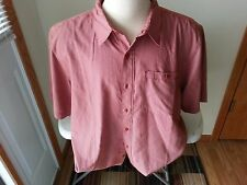 North Face red/rust & white check short sleeve button down - mens XL