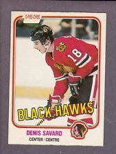 1981-82 OPC Hockey Denis Savard Rookie #63 Chicago Black Hawks NMMT