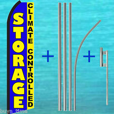 STORAGE Climate Controlled FLUTTER FEATHER FLAG + POLE KIT Swooper Banner Sign
