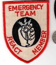 Police PATCH Cloth Shield Badge EMS Emergency Team React Member SWAT ?