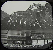 Glass Magic Lantern Slide JOTUNHEIM GJENDEBOD & SVARTDALSPIG C1888 PHOTO NORWAY